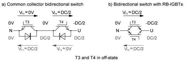 双向开关的理想化电压分布
