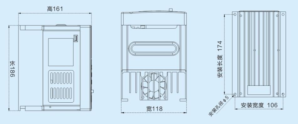 日鼎 VD200系列0.75~5.5KW通用变频器