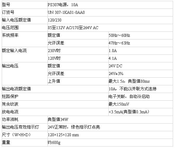 亿维UN 307-1KA01-0AA0电源