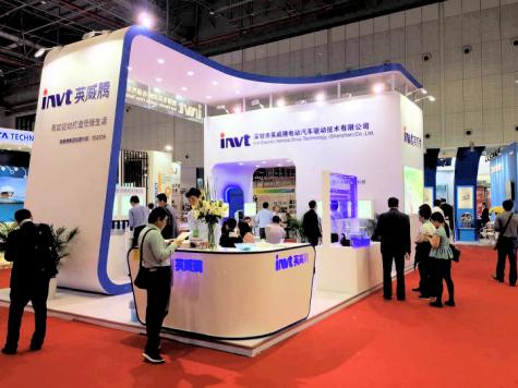 新能源科技亮相上海車展 英威騰打造電控盛宴