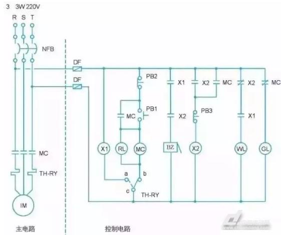 体育平台登录:实用| 怎么把电气图转换为PLC梯形图?(图1)