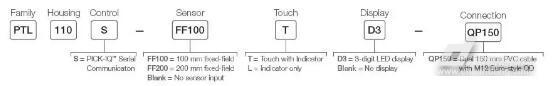 邦纳拾取神器PTL110,传感器