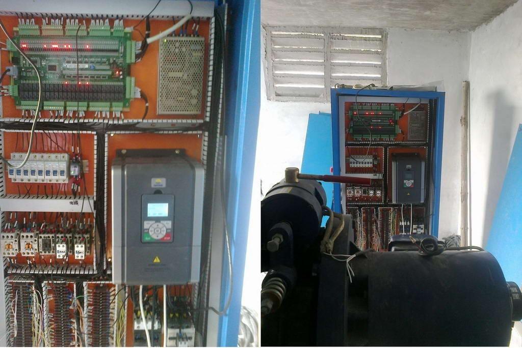 电梯专用驱动控制器在6层工厂货梯调试
