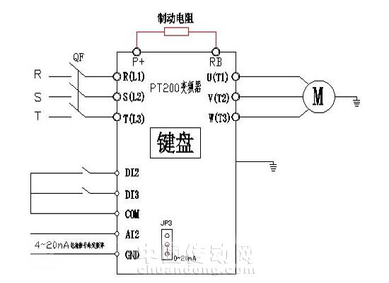 丹佛斯变频器制动电阻接线图