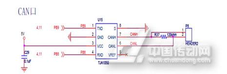 图3-1TJA1050接口电路