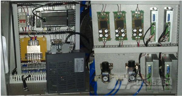 绕线扎线机电气控制柜接线图-永宏PLC在全自动绕线扎线机上的应用
