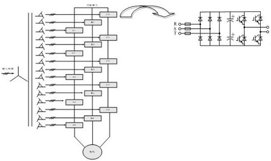 6kv高压变频器系统拓扑结构图