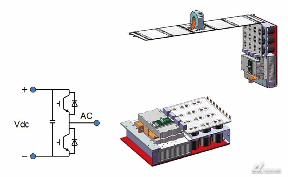 图4 风电行业系列解决方案配套器件功能说明 Crowbar电阻器功能 Crowbar电阻主要应用于风力发电逆变器的低电压穿越技术中。它用在风力发电机转子侧,用于旁路转子侧变流器。当电网发生低电压扰动时,防止直流母线电压过高和转子电流过大。主要工作在故障状态,阻尼定子磁链。Crowbar电阻能在瞬时把巨大能量耗散掉。 Dv/dt电抗器和阻尼电阻器构成的阻尼滤波电路的功能 抑制输入交流线路上的过高的Dv/dt和尖峰电压,保护可控整流部分的IGBT器件,提高系统稳定性和可靠性。 薄膜电容器和直流母线功能 提供