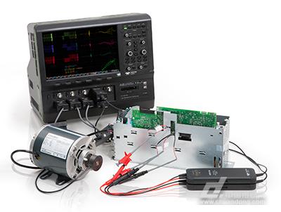 使用二瓦特计法表测试方法和hdo8000示波器的8个输入