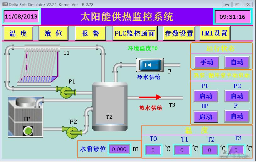 基于台达plc与触摸屏的太阳能供热监控系统设计
