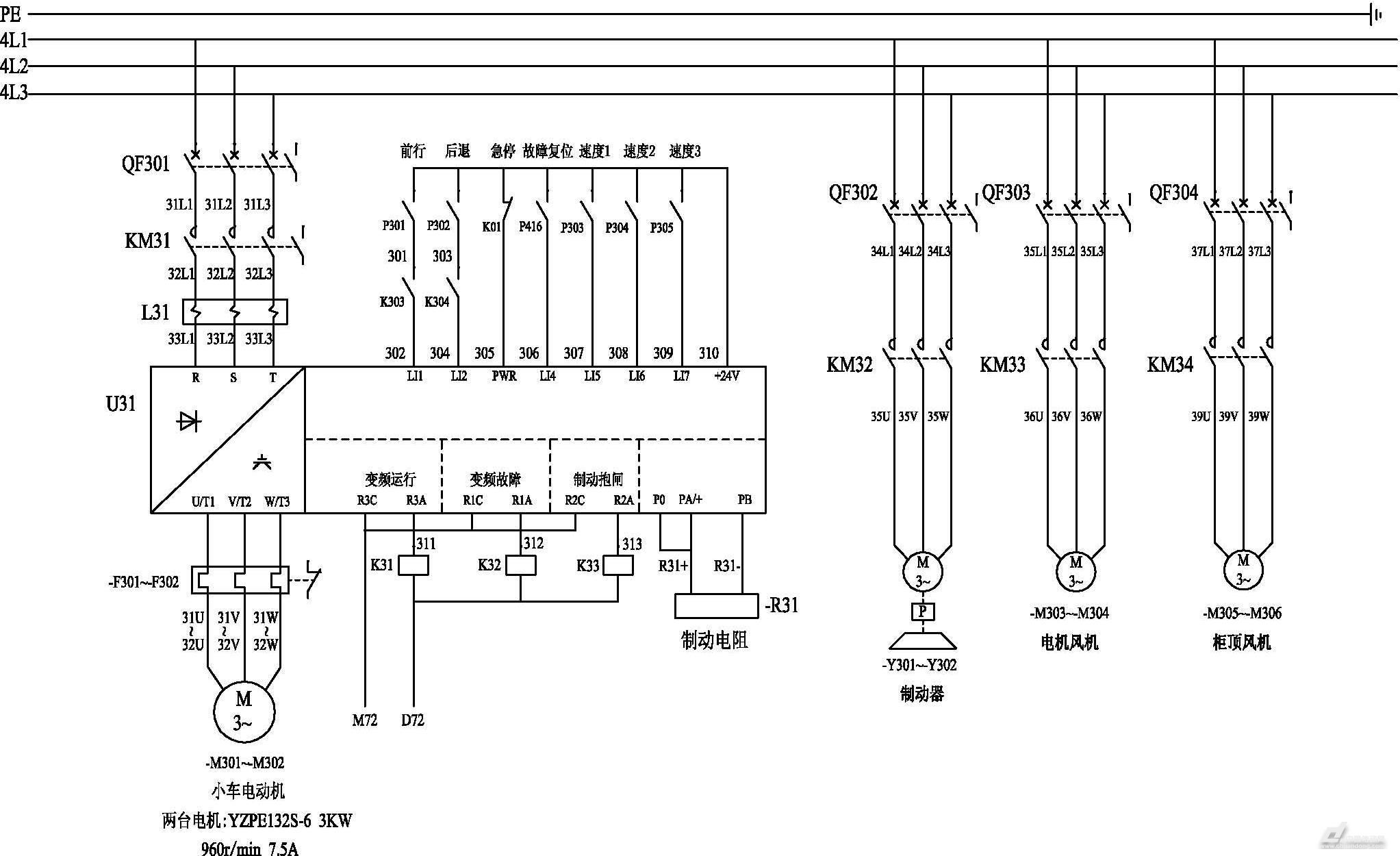 施耐德atv71变频器在双小车桥机上的运用