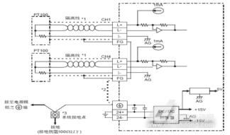 图3 温度传感器PT100与DVP04PT模块的外部接线图-台达PLC在太阳图片