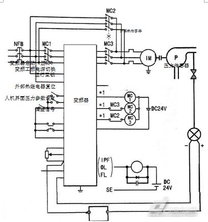 vfd-f变频器pid控制接线图