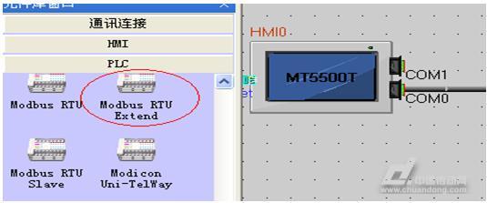 伟创ac60变频器与eview触摸屏通信实例