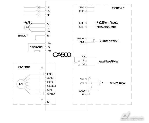 系统控制伺服电机接线图