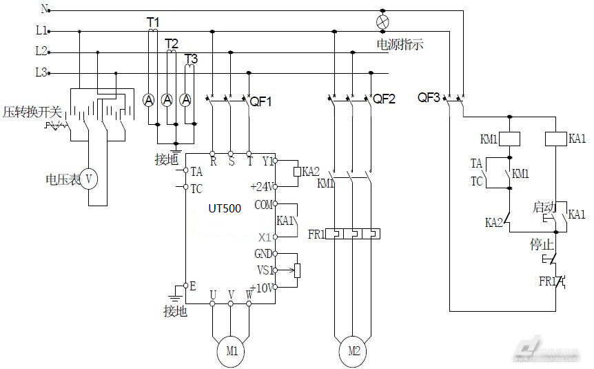 带小流量控制一拖多恒压供水控制器工作原理