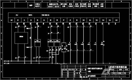 plc输入控制部分电气接线图