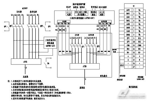 图4消防设备电源主回路监控电路图