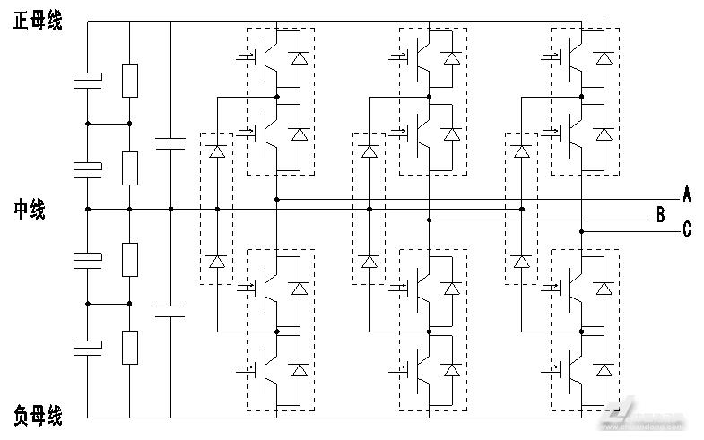图3逆变单元主电路拓扑