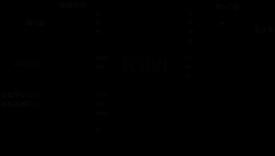 温度控制器与变频器接线图