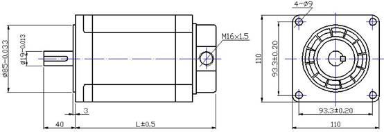 中達電機 三相110系列混合式步進電機fhb31112/31115圖片