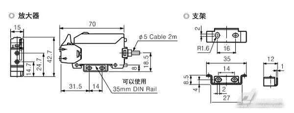 BF3RXB系列 奥托尼克斯新推出一款经济型光纤放大器BF3RXB系列。相比原有象牙白色的BF3RX系列,黑色外形的BF3RXB系列外形更出色,更具现代感和时尚感。BF3RXB系列分离了Light ON和Dark ON动作模式,减少了1根输出线,使得使用对象和目的更明确。灵敏度调节也由原来的两档精简为一档调节,使用更简便。 规格  连接图  外形尺寸图  安装及调节方法