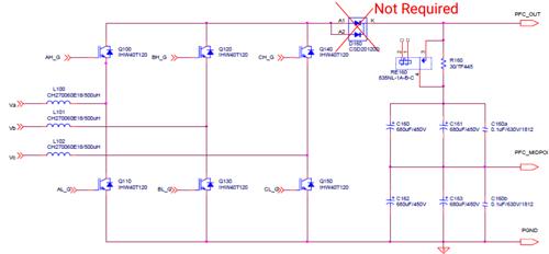 由6个sic mosfet组成的pfc电路