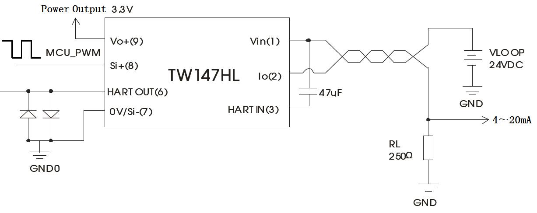 pwm信号输入型两线制调理模块