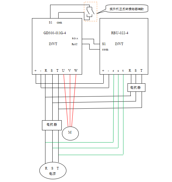 英威腾gd300变频器加能量回馈单元在行车上的应用  广州某电路器材