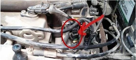 汽车水温传感器四根线的电路图