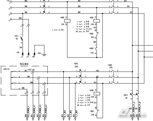 图5-2.双路电源电路分析图