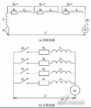 通过输入控制信号操作电机控制电路板驱动电路分别控制串,并联电路