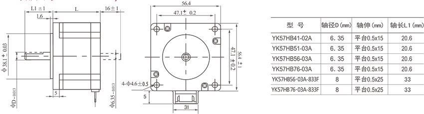 研控57mm系列两相步进电机-中国传动网