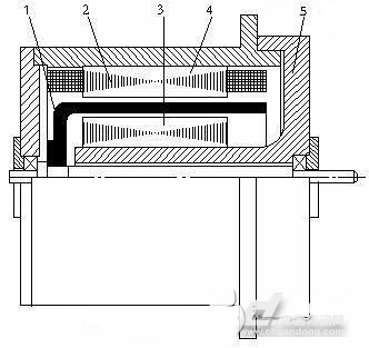 图2空心杯形转子伺服电动机结构