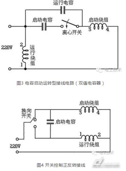干货来啦 单相电机电容接线图及接法讲解